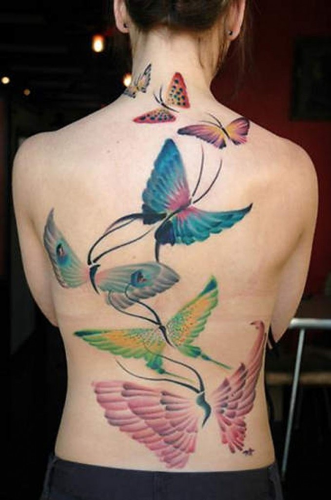 Beautiful butterfly tattoos for girls