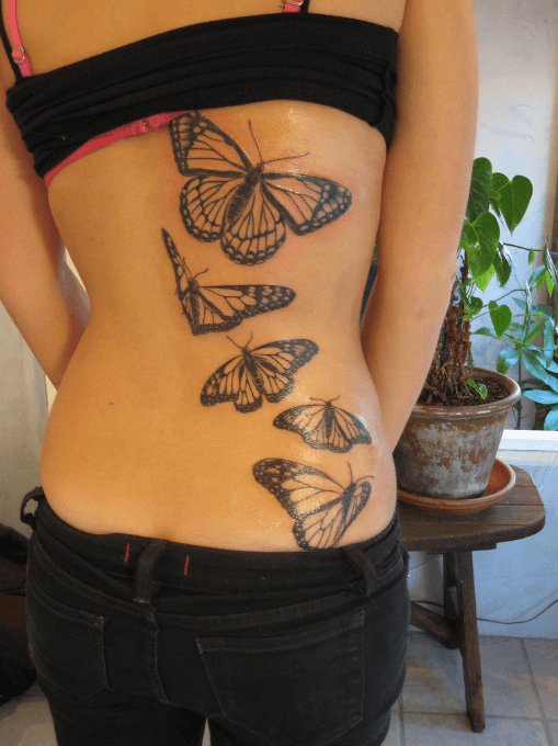 Creative Butterfly Tattoo Designs for Women