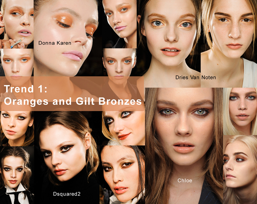 Orange fashion tone in make up