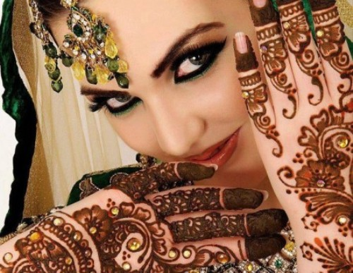 latest Beautiful Bridal Mehndi Designs 2014