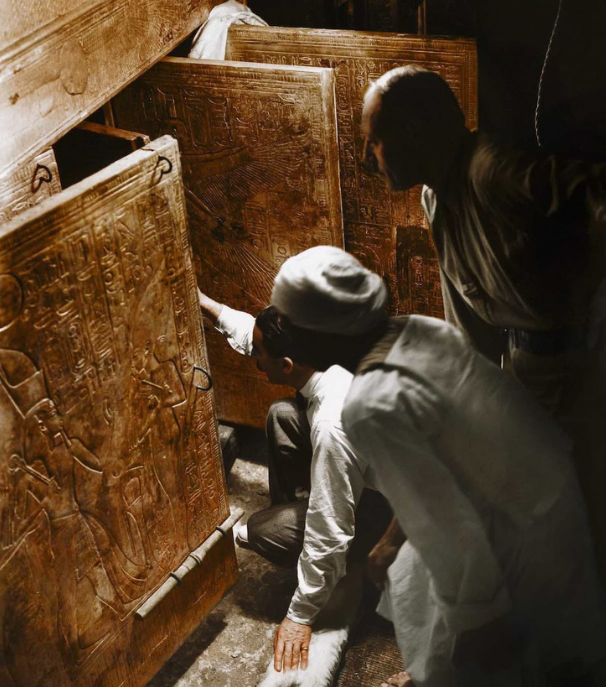 Archeologists Howard Carter