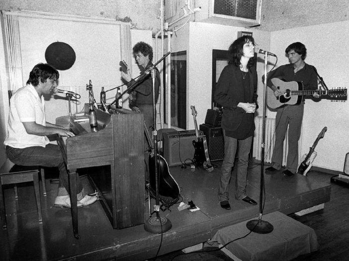 Lou Reed with John Cale, Patti Smith & David Byrne, NYC 1976