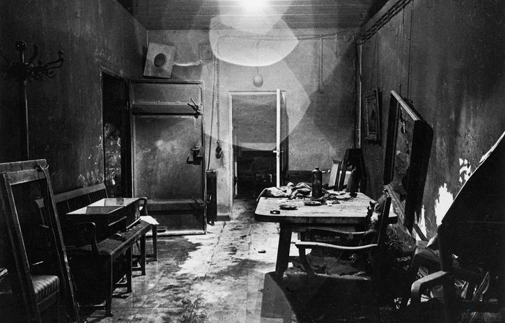 interior of Adolf Hitler's bunker