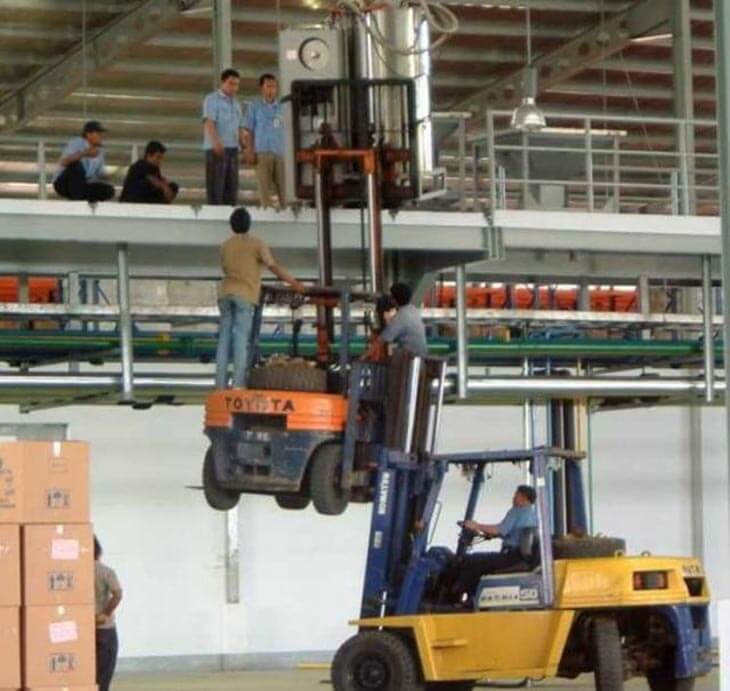 Image result for stupid workers pictures