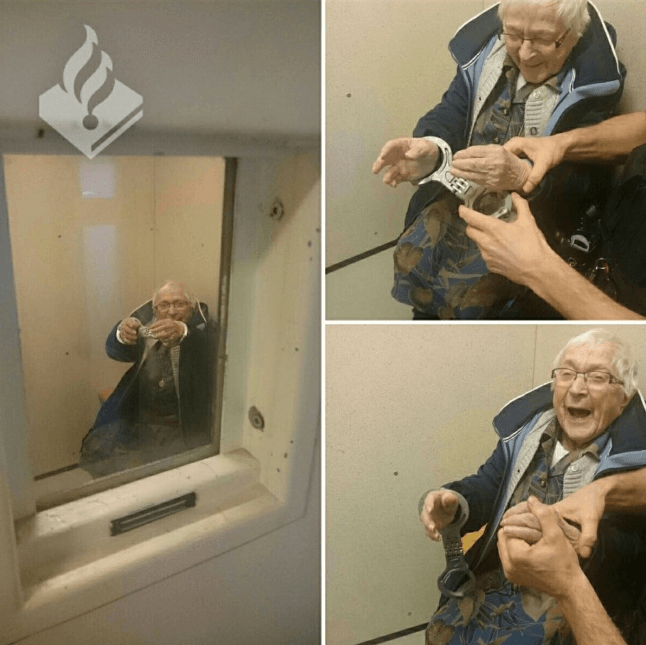 99-year-old lady is arrested