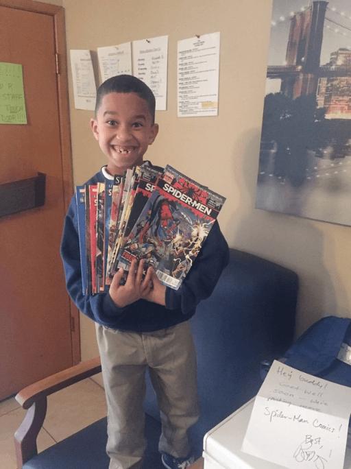 boy received comics